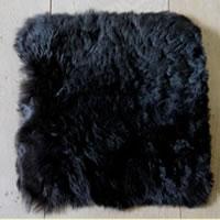 Kussenhoes van geschoren Jslandse vacht, zwart