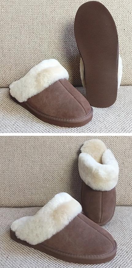 Pantoffelslipper - bruin