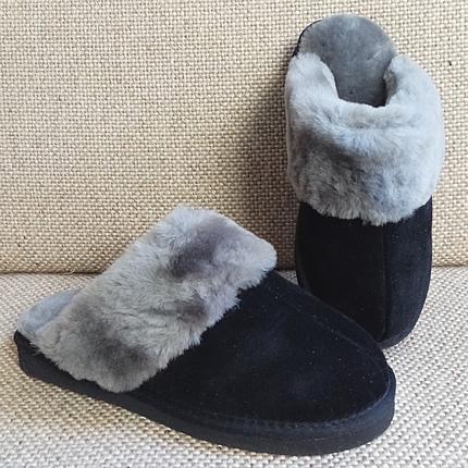 Pantoffelslipper - zwart