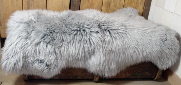 Wasbare schapenvacht: grijs
