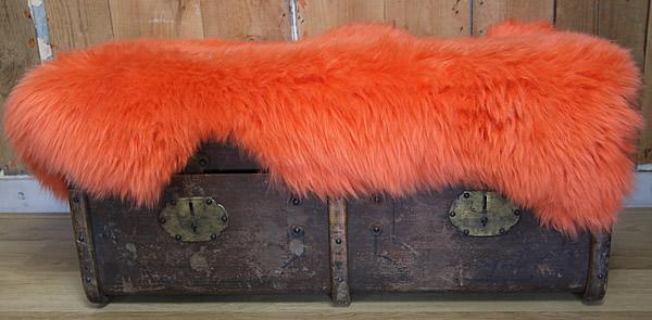Wasbare schapenvacht: oranje