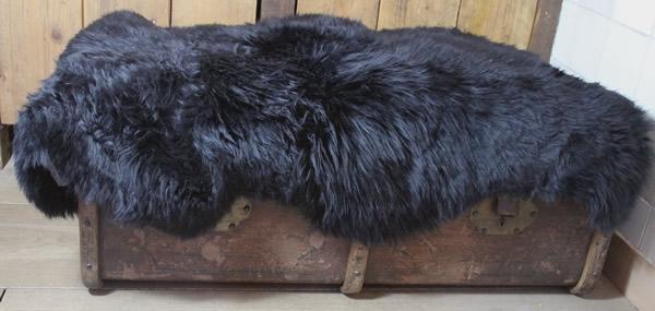 Wasbare schapenvacht: zwart